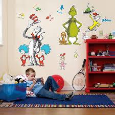 amazon com dr seuss room decor giant wall decals toys u0026 games