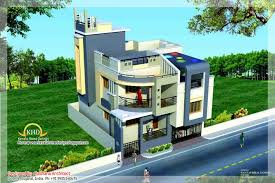 duplex house plan with elevation amazing and sq ft home charvoo