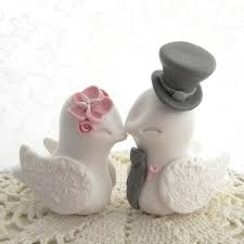 birds wedding cake toppers custom bird wedding cake toppers