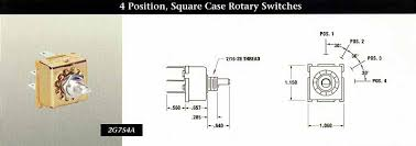 indak switches 4 position square case rotary switches indak