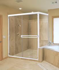 frameless shower door adds dramatic look to bathroom romanobdj u0027s