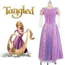disney tangled princess rapunzel dress cosplay costume tangled