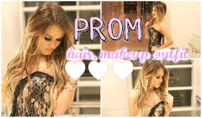 prom hair makeup and outfit inspiration