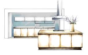 contemporary kitchen design sketch concept layout rough e inside