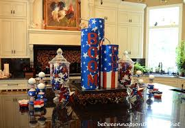 4th of july table setting tablescape with stars and stripes dishware