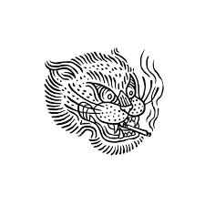 tiger illustration design tattoo tigertattoo smoke cigarette