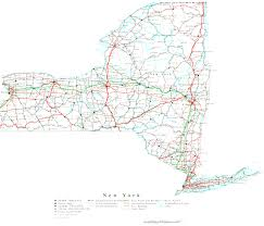 New York State Map With Cities new york state wall map with map of state ny evenakliyat biz