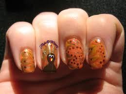 thanksgiving turkey nail art november 2013 flight of whimsy