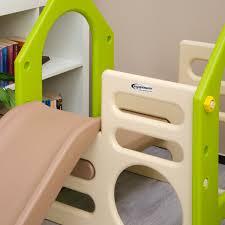 Kinderzimmer Schaukel Littletom Kinder Spielhaus Mit Rutsche Schaukel 155 X 135 Cm