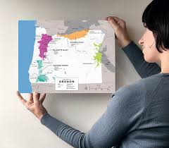Oregon Wineries Map by Detailed Map Of Wine Regions In Oregon Usa Wine Posters Wine