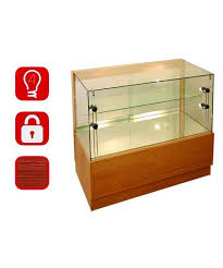 glass counter display cabinet 1000mm wooden glass display counter