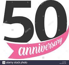 fiftieth anniversary fiftieth anniversary vector logo number 50 illustration for