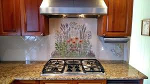 murals for kitchen backsplash tile mural backsplash poppy road tile mural kitchen backsplash