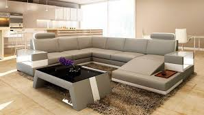 Modern Sectional Leather Sofas Modern Light Grey Bonded Leather Sofa Vg100 Leather Sectionals