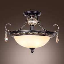 wrought iron flush mount lighting fashion style close to ceiling lights semi flush mount crystal