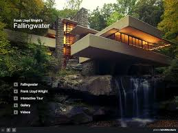 frank lloyd wright waterfall fallingwater frank lloyd wright hd on the app store
