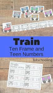 train number games and worksheets for kindergarten totschooling