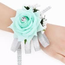 Prom Wrist Corsage Performance Wedding Prom Wrist Corsage Hand Flower Silk Rose