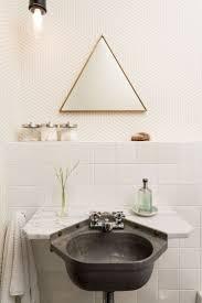 264 best bathroom interior images on pinterest bathroom ideas interesting triangle bathroom mirror and dark sink