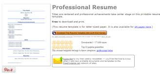 resume templates free download documents converter 4 websites to get free resume templates for word