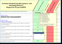 rfp template features and examples