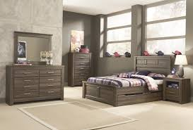 ashley bedroom ashley juararo panel bedroom set with under bed storage in dark brown