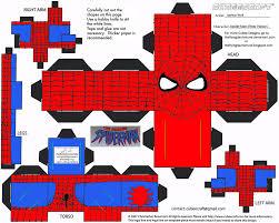 marvel 1 spider man cubee by theflyingdachshund paper craft