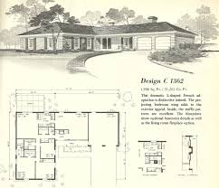 baby nursery mid century modern floor plans vintage house plans