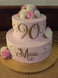 90th birthday cakes birthday tier cakes delaware county pa sophisticakes