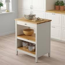 ikea kitchen cabinets free standing tornviken kitchen island white oak 72x52 cm