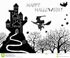 halloween set with castle stock vector image 43066629