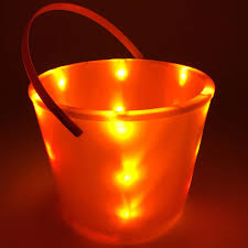 Orange Led Lights Halloween Glowcity Light Up Led Buckets Perfect For Halloween Trick Or