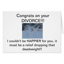 congrats on your divorce card congrats on your divorce card zazzle