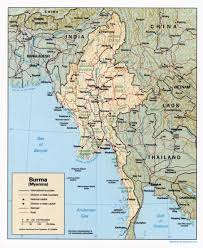 Map Burma Large Detailed Political And Administrative Map Of Burma Myanmar