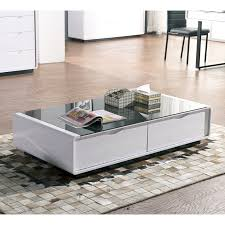 Black Gloss Glass Coffee Table Black Gloss Coffee Table With Drawers Drawer Design