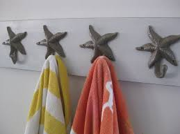 Bathroom Towel Decorating Ideas Bathroom Unique Sea Star Towel Hook Design In Bathroom With