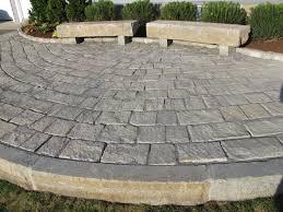 Granite Patio Pavers Reclaimed Granite Pavers Curbing Used In This Raised Patio