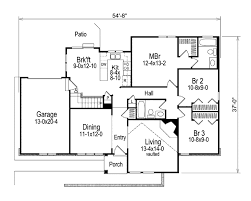 Single Story Ranch Style House Plans Modern Style House Plan 3 Beds 2 00 Baths 1321 Sq Ft Plan 57 169