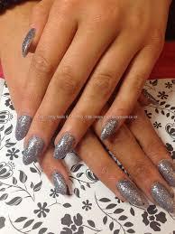 eye candy nails u0026 training fullset of acrylic nails with grey