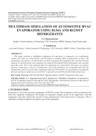 heating ventilating and air conditioning analysis and design multiphase simulation of automotive hvac evaporator using r134a