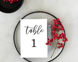 number 1 headband 4x6 black and white printable table numbers for wedding