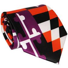 Purple Flag Baltimore Purple U0026 Orange Maryland Flag Tie U2013 Route One Apparel