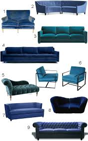 Velvet Armchair Sale Get The Look 34 Blue Velvet Sofas Style Carrot Home Decor