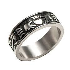 mens claddagh ring claddagh ring for men stainless steel heart celtic