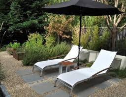 Pea Gravel Patio Backyard Garden With Lounge Chairs And Pea Gravel Patio Ways To
