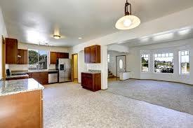 house with open floor plan house with open floor plan empty living and kitchen room stock