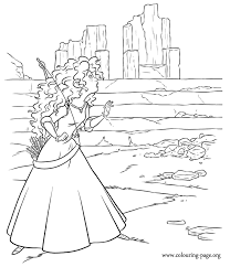 movies coloring pages disney movies coloring pages merida inside the ruins