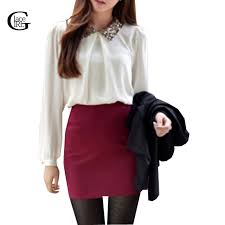 Black Blouse With White Collar Compare Prices On Peter Pan Collar Blouses Online Shopping Buy