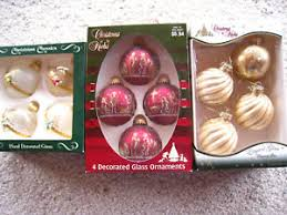 12 vintage krebs classics glass ornaments nativity floral