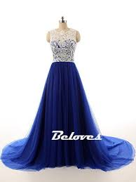 royal blue tulle royal blue tulle lace bodice prom dress sweep beloves